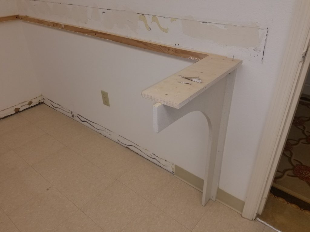 Launry room Folding table Removal