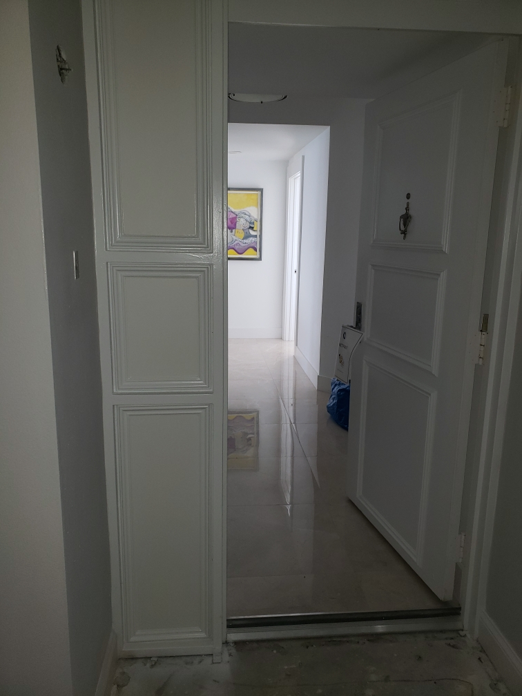 Front Door and Sidelight painting
