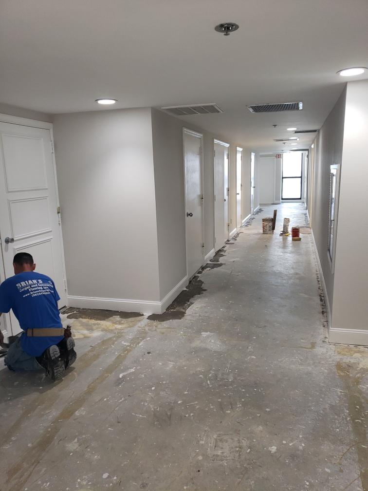 Baseboards & Prep for Carpet Installation